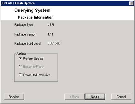 ibm uefi flash update for ibm x3650 m2 running windows 2008